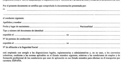 Certificado de Conductor Extracomunitario