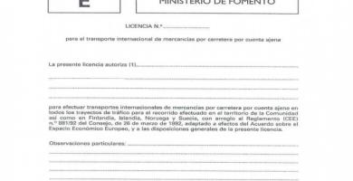 licencia comunitaria transporte mercancias